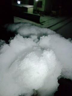雪か〜。。
